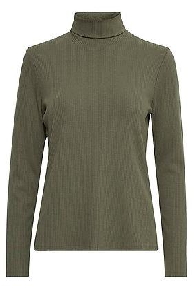 Pulz Roxanne Ribbed Sweater Grape Leaf