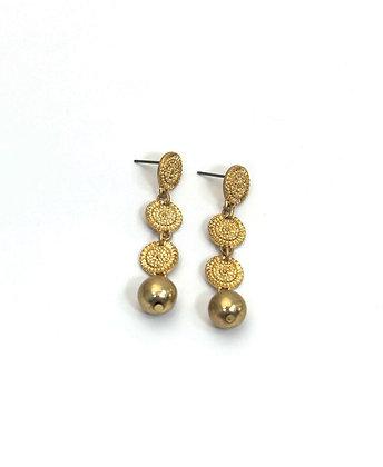 Envy Beaded Circles and Drop Earrings