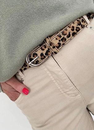 Luella Leopard Leather Belt