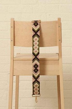 Bag Strap Khaki and Cream Aztec Print