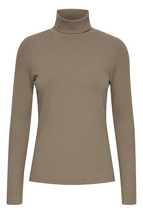 Pulz Roxanne Ribbed Sweater Fossil