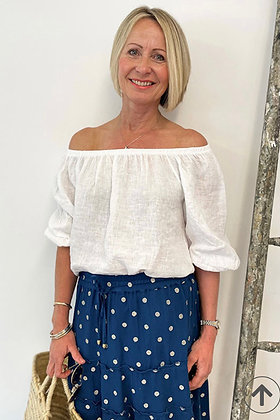 Luella Layla Off the Shoulder top White