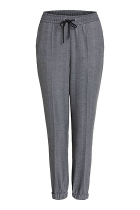 Oui Grey Herringbone Pants Grey