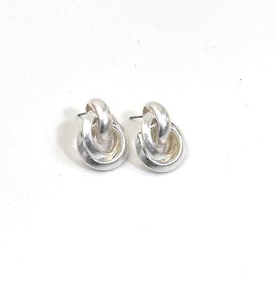 Envy Knot Earrings Silver