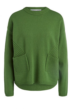 Oui Pocket Sweater Green