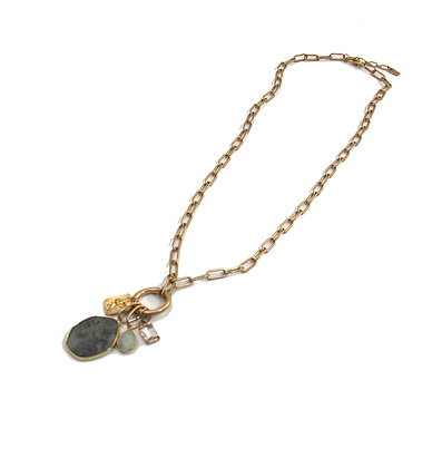 Envy Gold Chain Necklace  With 4 Pendants