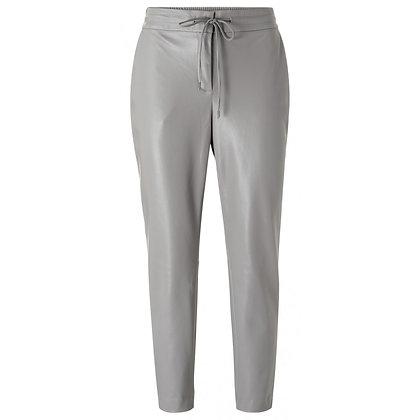 Yaya Faux Leather Trousers Grey