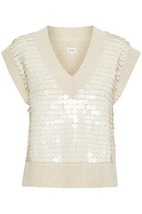Part Two Leida Sequins Sweater Ecru