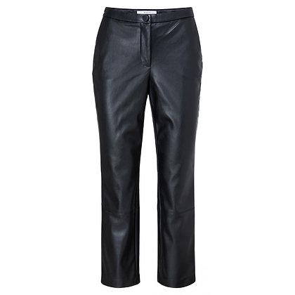 Yaya Faux Leather Trousers Black