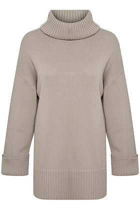 Part Two Keike Sweater Cotton Grey