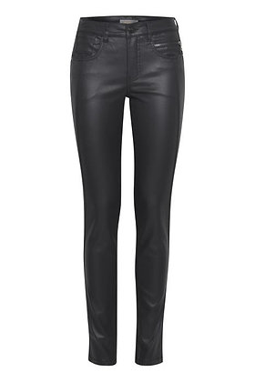 Dranella Leather Look Coated Jeans