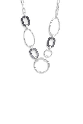 Envy Long Necklace Resin and Silver Hoops