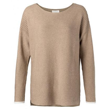Yaya Ribbed Sweater with Splits Nutshell