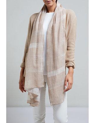 Yaya Slub scarf Beige and Neutral Stripes