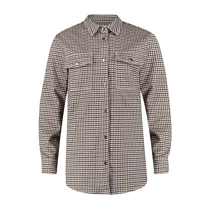 Red Button Overblouse Classic Check