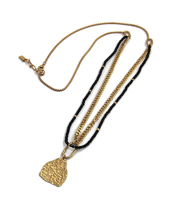 Envy Long Necklace Gold and Black Necklace