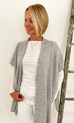 Luella Cashmere Mix Wrap Silver Grey