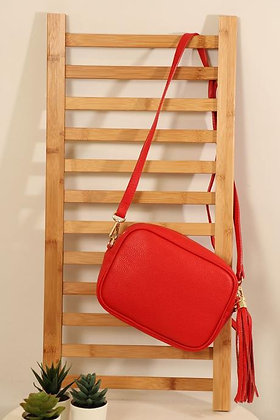 Leather Camera Bag Red