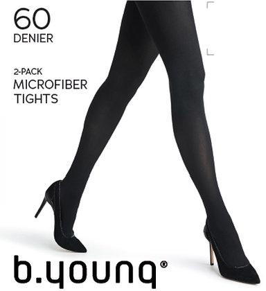 BYoung 60Denier Tights Black2Pk