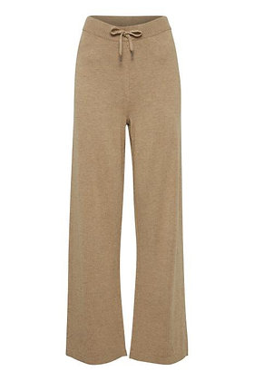 BYoung ByPimba Wide leg Knitted Pants Tannin