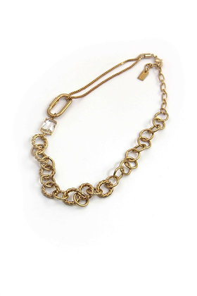 Envy Statement Chain Necklace Gold