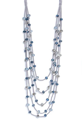 Envy Multistrand Necklace Blue and Grey