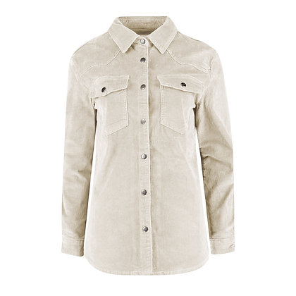 Red Button Overblouse Cord Ivory