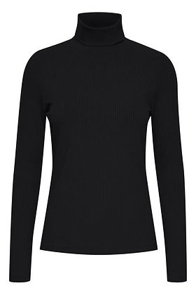 Pulz Roxanne Ribbed Sweater Black