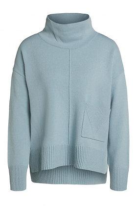 Oui Pocket Sweater Cloud Blue