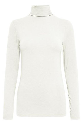 BYoung Pamila Jersey Rollneck Off White