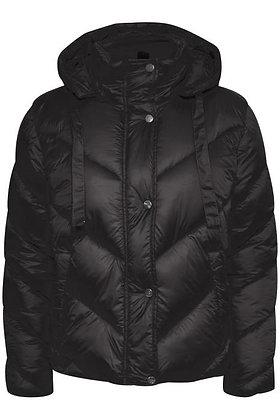 Saint Tropez Short Puffa Coat Black