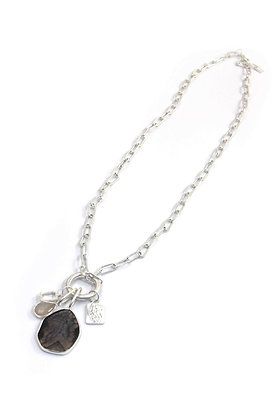 Envy Silver Chain Necklace  With 4 Pendants