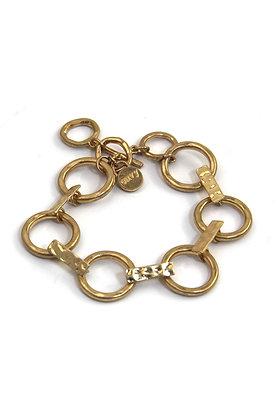 Envy Statement Gold bracelet with Ring Links