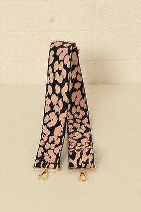 Bag Strap Black Pink Abstract Print