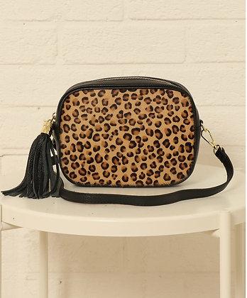 Leather Camera Bag Animal Print