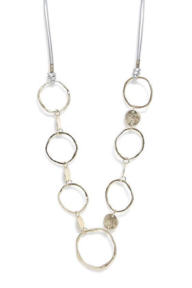 Envy Necklace With Hoops and Discs Gold