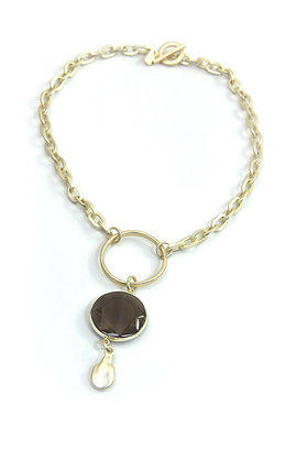 Envy Gold Chain With Semiprecious Statement Pendant