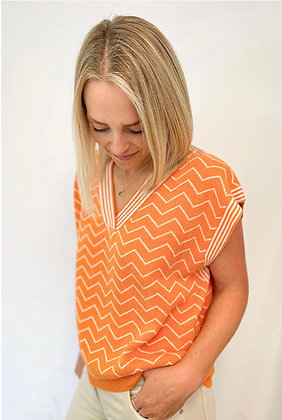 Luella Tangerine Cashmere Blend Tank Top