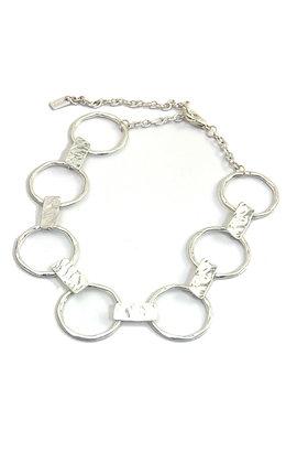 Envy Short Necklace Silver Hoops