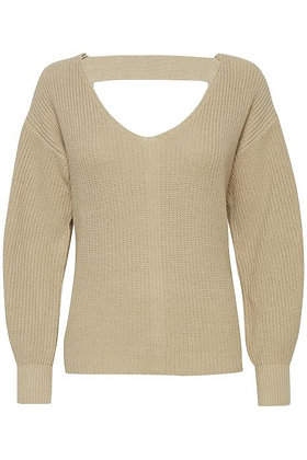 Pulz Pullover with Strap Detail Cream