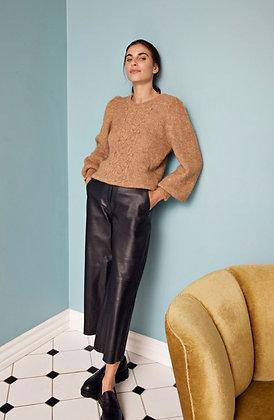 Dranella Black Leather Culottes