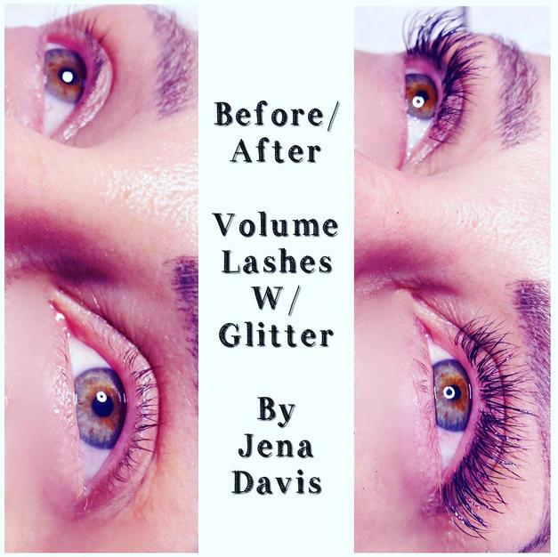 Volume Lashes w/glitter