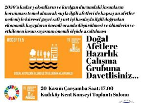 Kadıköy Kent Konseyi : Doğal Afetlere Hazırlık  Çalışma Grubuna Davetlisiniz !