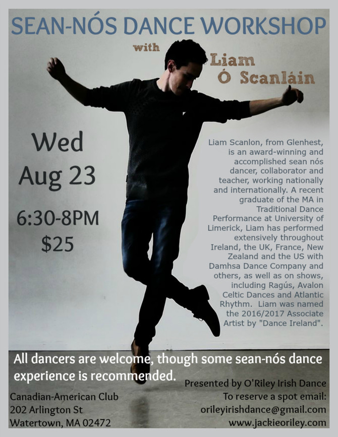 Sean-nós Dance Workshop with Liam Ó Scanláin