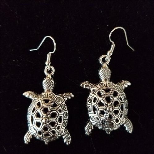 3D Turtle Earrings