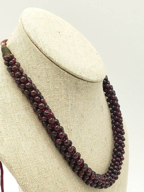 """22"""" Garnet Rope Necklace"""