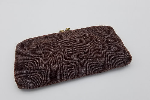 Vintage 50/60s MAGID Copper Beaded Clutch