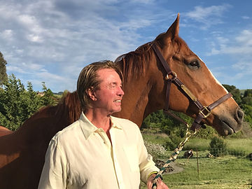 Social Security Representative Dan McCaskell Ph.D By a Horse