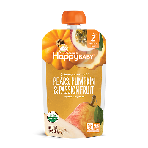 Happy Baby Pears, Pumpkin and Passion Fruit 4oz