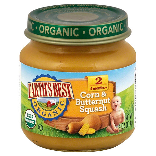 Earth Best Corn and Butternut Squash 4oz